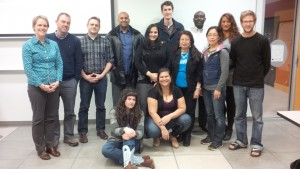 CLIC Students with Instructor Dr Kathleen Burke (far left)